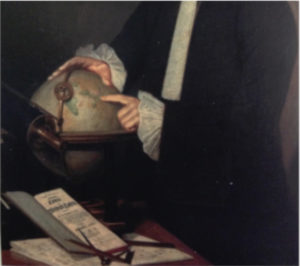 """Detail from a 1790 portrait Rabbi Raphael HaLevi of Hannover appearing as typical 18th century European scholar. Hannover was a German mathematician and man of science and was one of the early figures of the Haskalah – the Jewish Enlightenment movement that emerged in Germany as Jewish intellectuals began engaging in Enlightenment texts and ideas. From Feiner, Shmuel, and Natalie Naimark-Goldberg. """"The Early Maskilim."""" In Cultural Revolution in Berlin, 14. Oxford: Bodleian Library, 2011."""