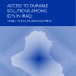 Cover of the report Access to Durable Solution Among IDP in Iraq