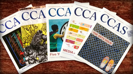 A stack of several issues of the CCAS Newsmagazine