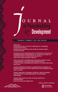 Cover of the Journal of Peacebuilding and Development
