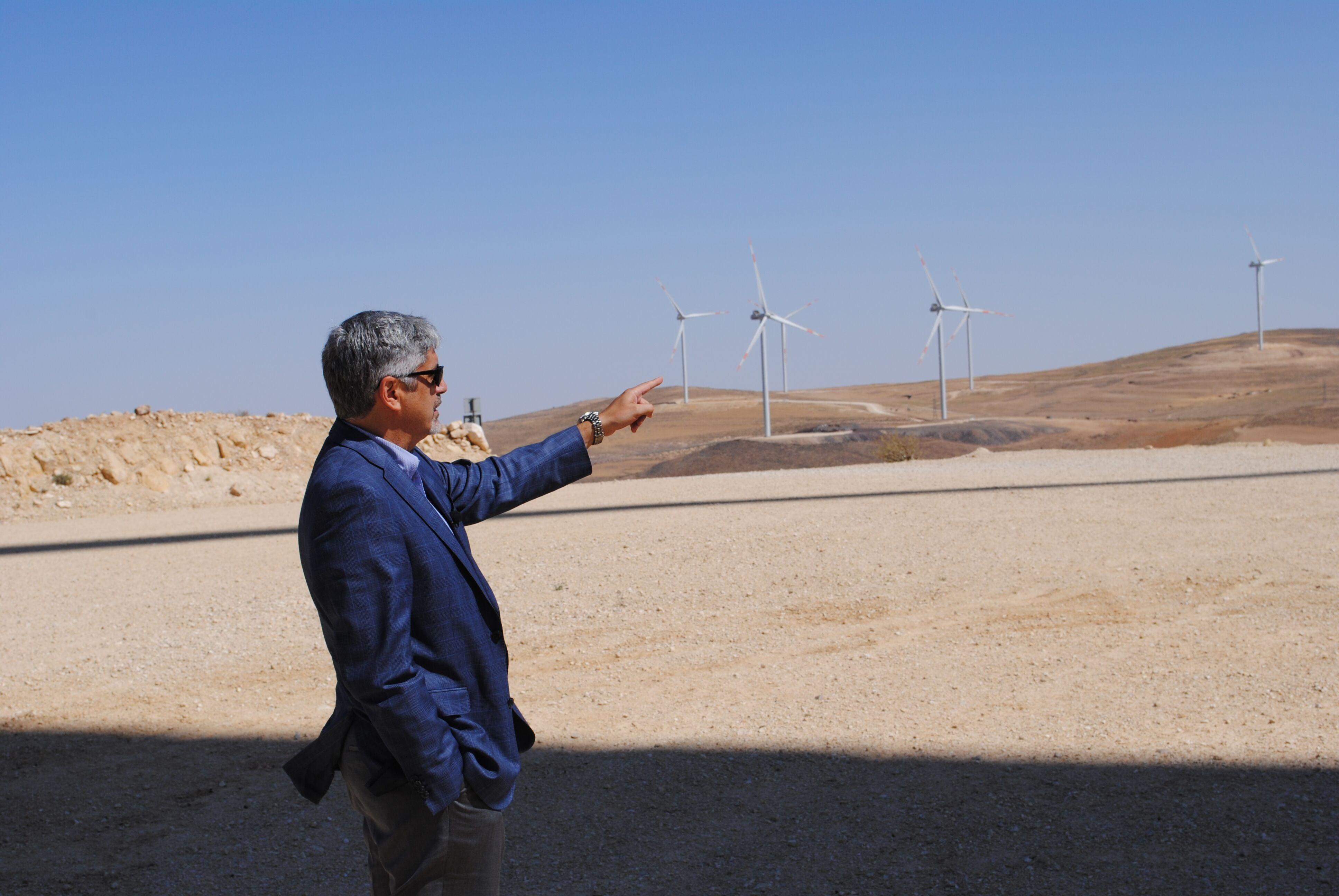 Samer Judeh at wind farm