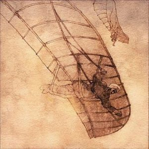 A drawing of Ibn Firnas's glider