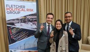 Azim Wazir (MAAS '21), Tra Hoang (MASIA '20), and Haris Fontaine