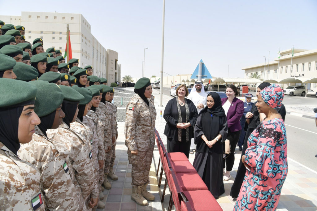 Hannah attends the graduation of the first round of the Women, Peace and Security Training Programme, in the presence of senior leaders of UN Women and the UAE Government