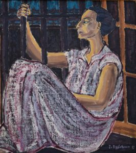 A painting of a prisoner by Inji-Efflatoun