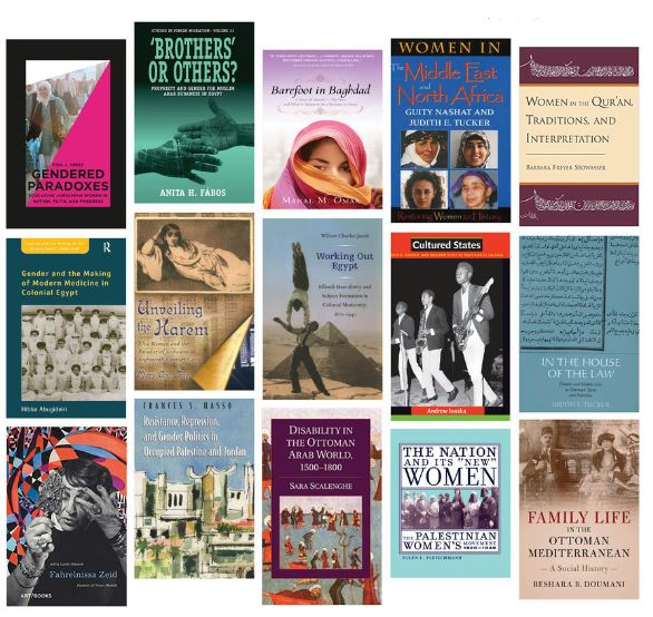Collage of books written by CCAS faculty and alums