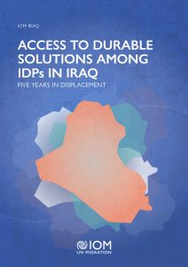 Cover of the report Access to Durable Solutions Among IDPs in Iraq