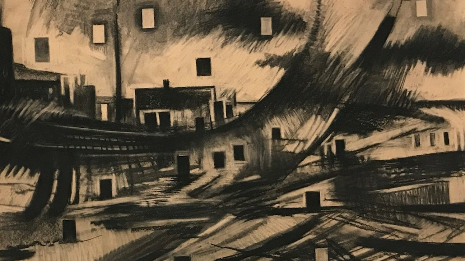 Abstract charcoal drawing by Reem Bassous