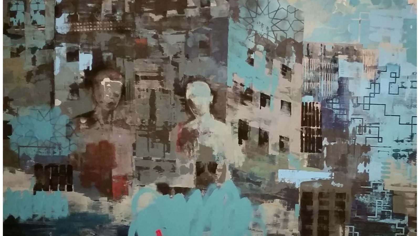 Abstract painting by Reem Bassous